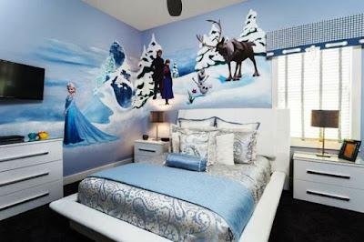 Kamar Anak Perempuan Tema Frozen