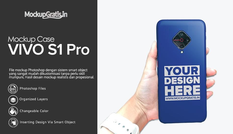 Mockup Case VIVO S1 Pro Gratis PSD File