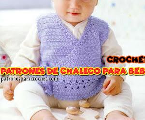 Patrones de Chaleco Crochet para Bebes