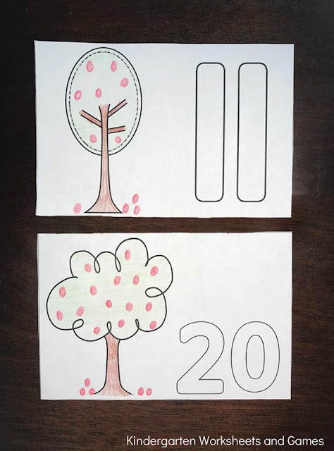 Free Apple Tree Counting Coloring Book