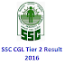 2016 SSC CGL TIER 2 Result Declared