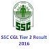 2016 SSC CGL TIER 2 Result Declared