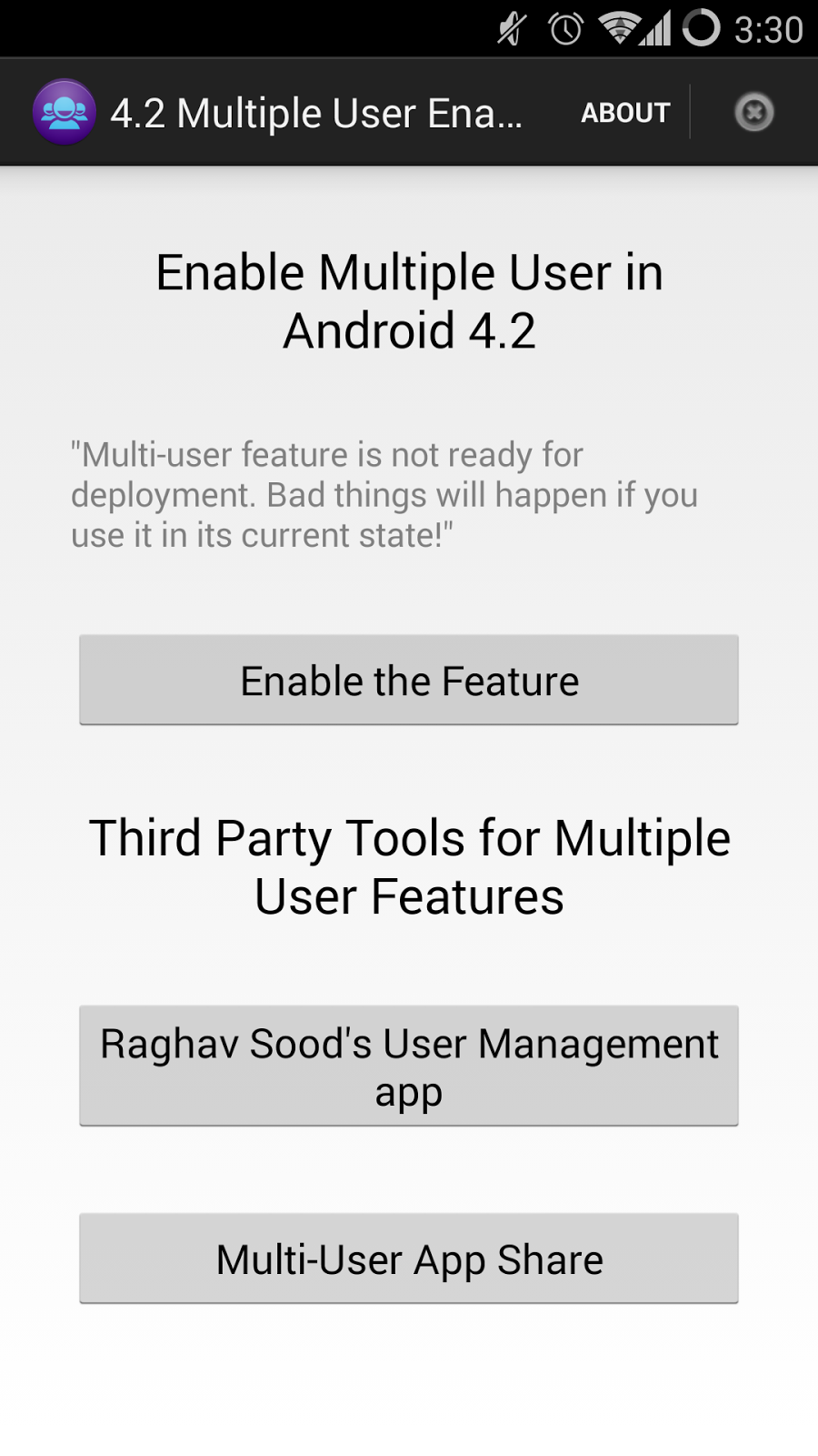 Enabling Multi-User profiles on your rooted Android phone
