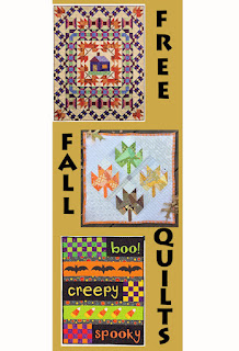 FREE FALL QUILT PATTERNS-FREE PATTERNS-QUILT PATTERNS-LEAF QUILTS-HALLOWEEN QUILTS