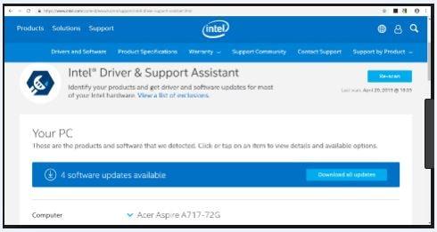 الأداة, الرسمية, لتحديث, برمجيات, وتعريفات, أنتل, على, أجهزة, الكمبيوتر, Intel ,Driver ,Support ,Assistant