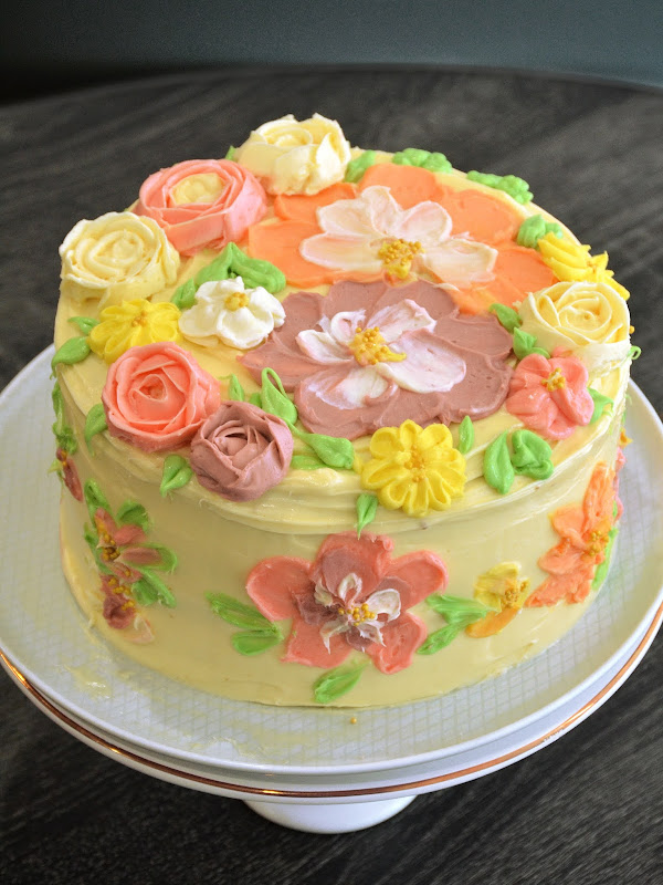 buttercream cake flowers