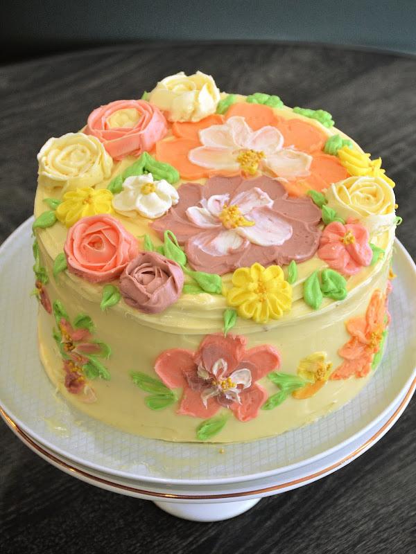 buttercream cake flowers