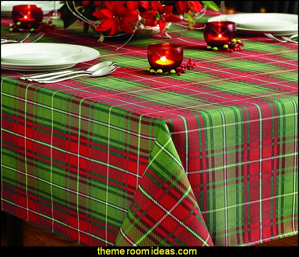 Christmas Plaid Printed Tablecloth  christmas kitchen decorations - Christmas table ware - Christmas mugs  - Christmas table decorations - Christmas glass ware - Holiday decor - Christmas dining - christmas entertaining - Christmas Tablecloth - decorating for Christmas - Cookie Cutters
