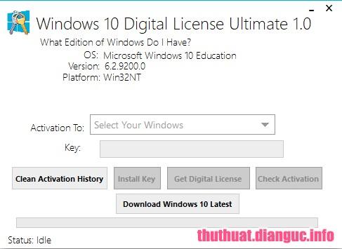 Download Windows 10 Digital License Ultimate 1.2 Full Crack, phần mềm kích hoạt vĩnh viễn Windows 10, active win 10, cách active win 10 vĩnh viễn, Windows 10 Digital License Ultimate