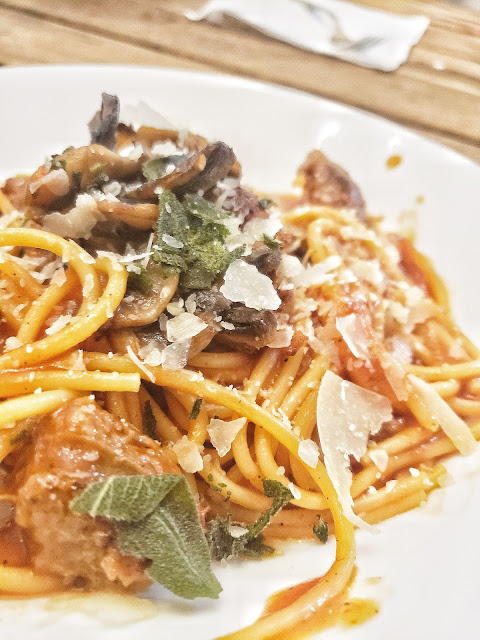 Spicy Bloody Mary Spaghetti
