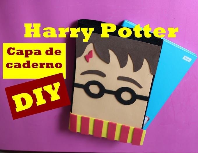 Capa de caderno Harry Potter - DIY