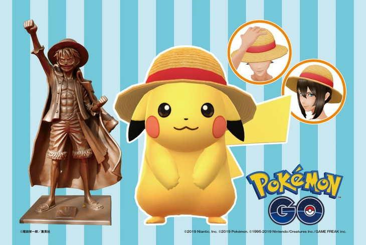 Pikachu Bergabung dengan Kru Topi Jerami di Kampanye Pokemon GO