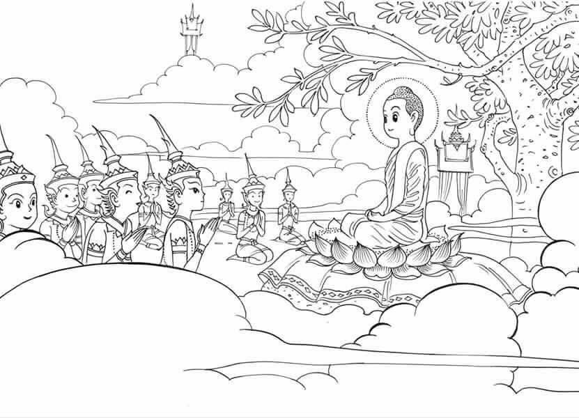 Gambar Berbagi Dhamma Buddhis Riwayat Buddha Mewarnai Vihara