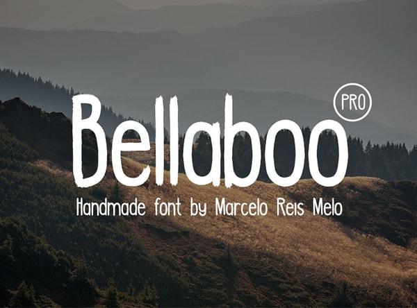 Brush font terbaik 2017 - Bellaboo PRO – Free Brush Font
