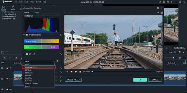 Cara Menggunakan Preset/3D Luts Cinematic di Filmora
