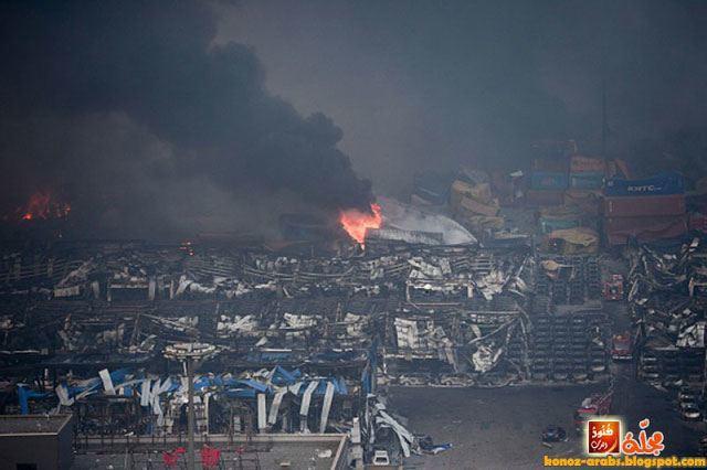 صور مروعة لانفجار تيانجين العنيف في الصين