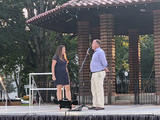 Jen Knight-Levine and Jim Derick opened the gathering welcoming the 70-80 folks who showed up