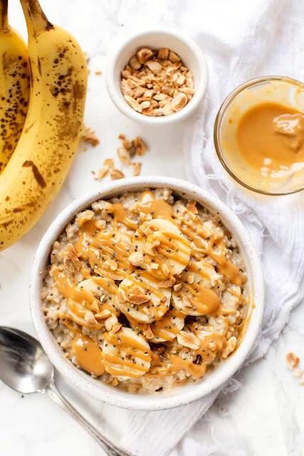 10 healthy breakfast ideas Peanut butter banana oatmeal