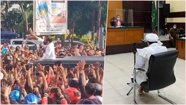 """HRS Singgung Kerumunan Jokowi di NTT, """"Apa karena Presiden sehingga Boleh Suka-suka?"""""""
