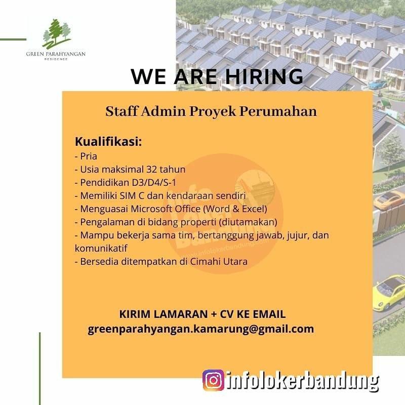 Lowongan Kerja Staff Admin Proyek Perumahan Green Parahyangan Residence Bandung Januari 2020