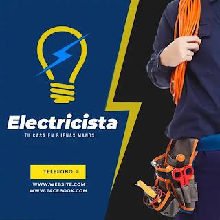plantilla de anuncio para promocionar y buscar trabajo de electricista