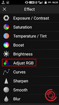 4. Pilih Adjust RGB