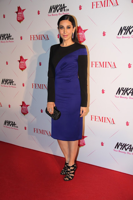 Karisma in Black Blue Color Block Dress by Bibhu Mohapatra