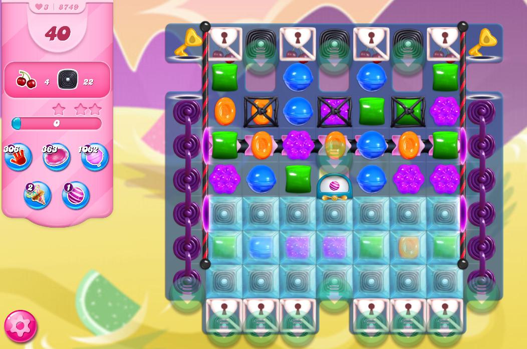 Candy Crush Saga level 8749