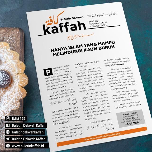 BULETIN DAKWAH KAFFAH - EDISI 162 Tgl. 21 Shafar 1442 H/9 Oktober 2020 M