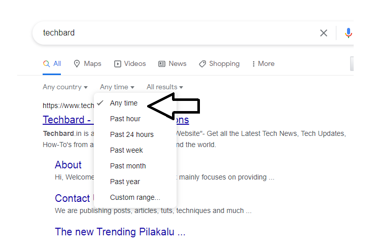 Narrow Down Search Results