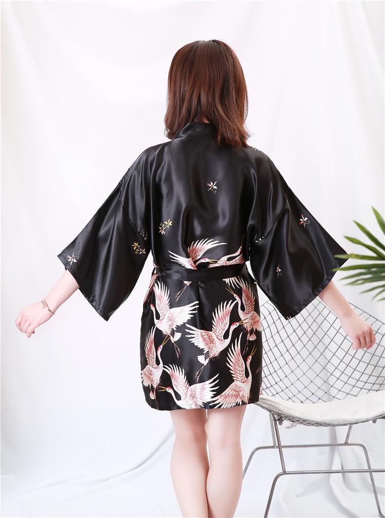 Áo choàng tắm, áo khoác ngủ nữ phi lụa sang trọng 6