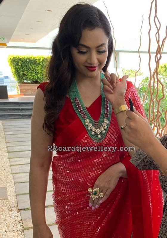 Meena Emerald Beads Haram