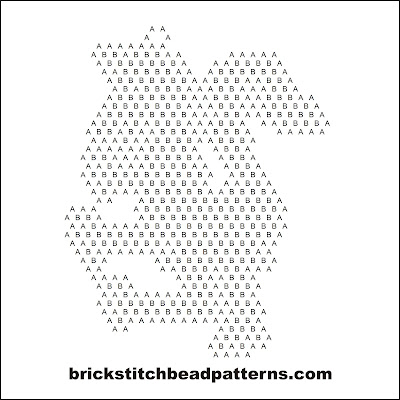 Click for a larger image of the Traditional Dragon Silhouette bead pattern word chart.