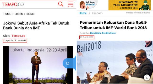 Dulu, Jokowi Sebut Asia-Afrika Tak Butuh Bank Dunia dan IMF