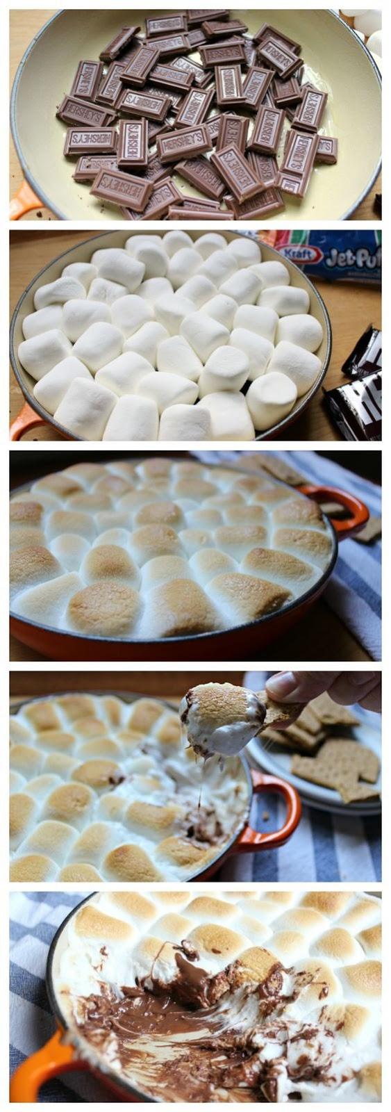 Smores Dip Recipe #smores #dip #smoresrecipes #smoresdiprecipes #easyrecipes #marsmallow #chocolate