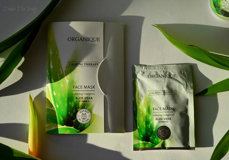 Organique Calming Therapy Maska do twarzy z aloesem Terapia Łagodząca