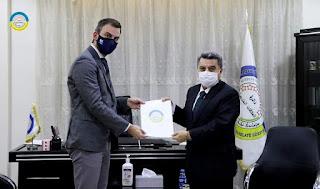 Eine belgische Delegation in der kurdischen Autonomen Region im Nordosten Syriens