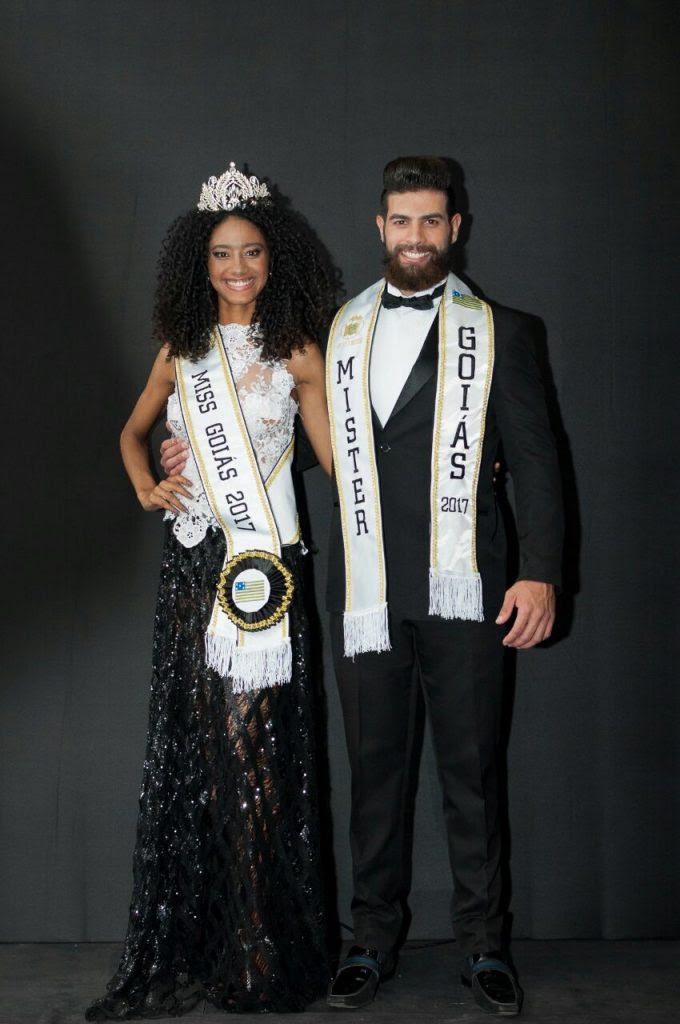 Adriana Benício e Helder Aquino, Miss e Mister Goiás 2017. Foto: André Luz