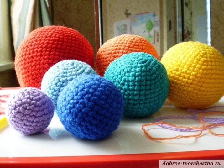 шары вязанные крючком со схемами и описанием