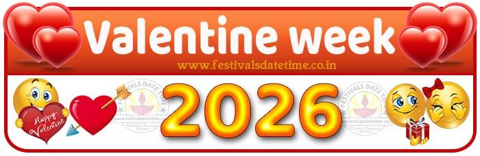 2026 Valentine Week List Calendar, 2026 Valentine Day All Dates & Day