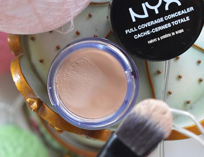 Corrector de NYX - Full Coverage Concealer - tono Nude Beige