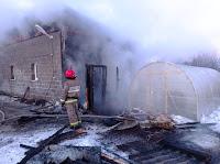 Пожар городской округ Сухой Лог, с. Курьи, ул. Куйбышева.