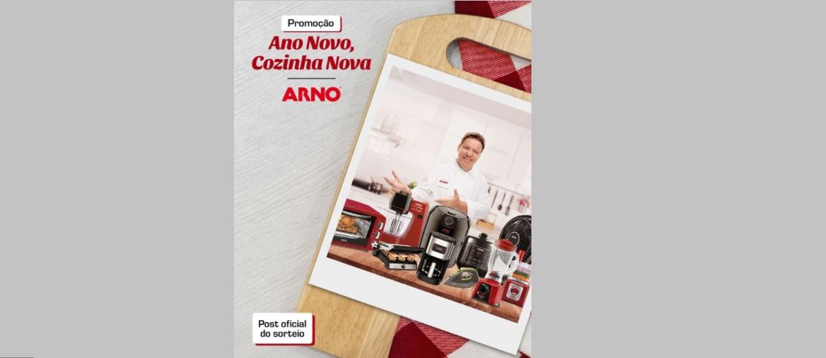 Promoção Arno 2021 Sorteio de Cozinha Nova Produtos da Marca