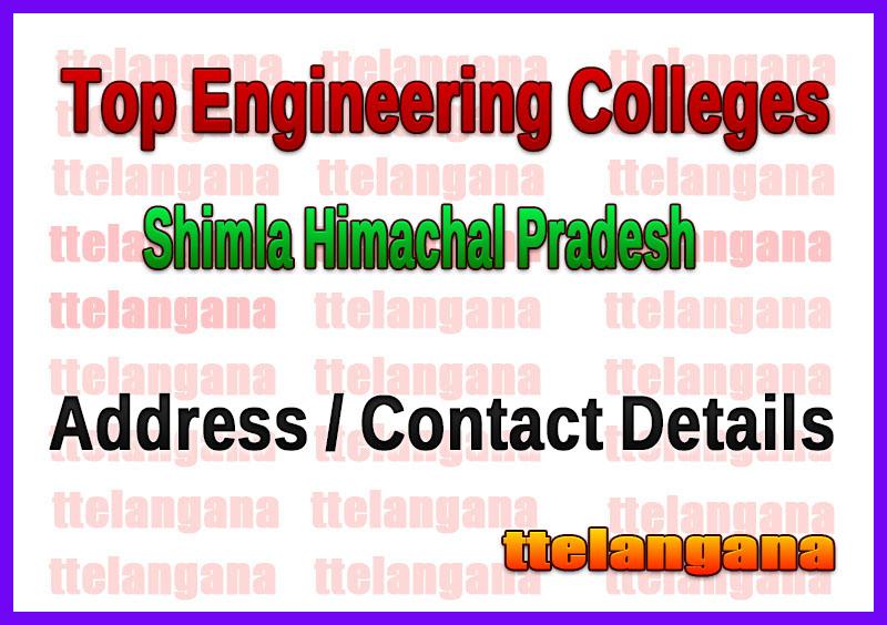 Top Engineering Colleges in Shimla Himachal Pradesh