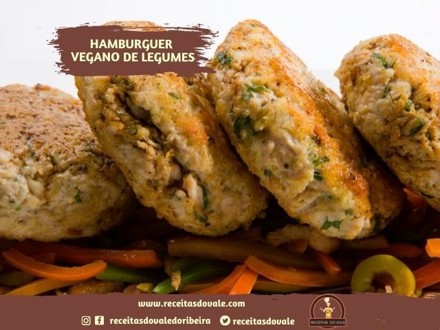 Receita de Hamburguer Vegano de Legumes