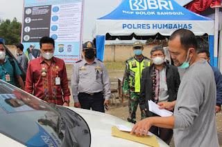 Wakil Bupati Humbahas Tinjau Pos Pengamanan OPS Ketupat Toba 2021 di perbatasan