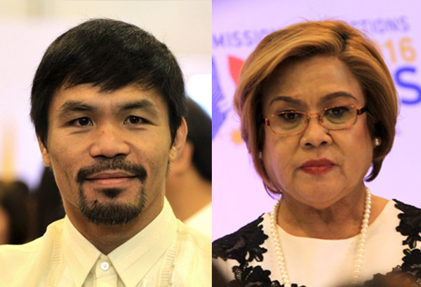 ABSENT : DE LIMA AND PACQUIAO