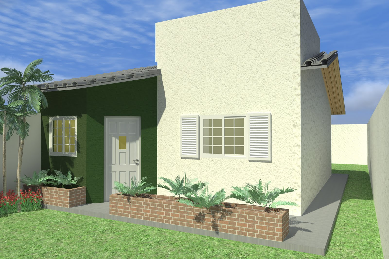 Fachadas para casas pequenas e modernas 40 fotos toda Estilos de fachadas para casas pequenas