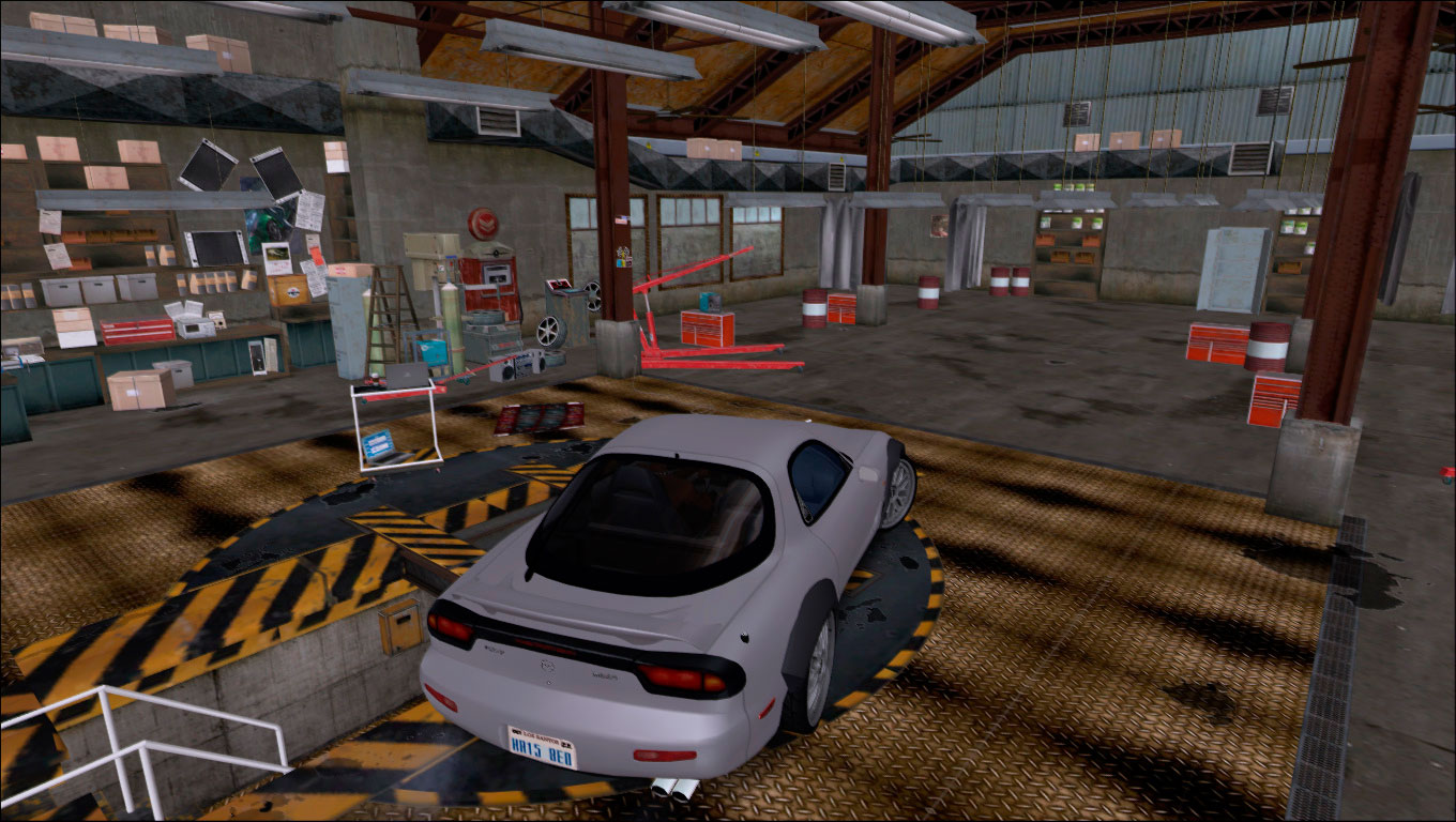 Garagem do NFS World para Tuning Mod - Tuning Mod Parts