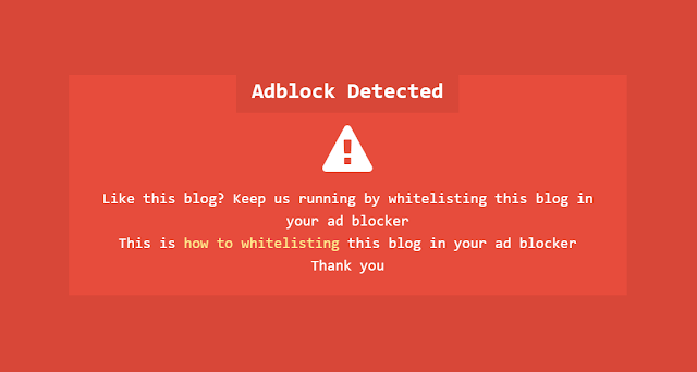 Notifikasi Adblocker Adsense Ala Kompi Ajaib
